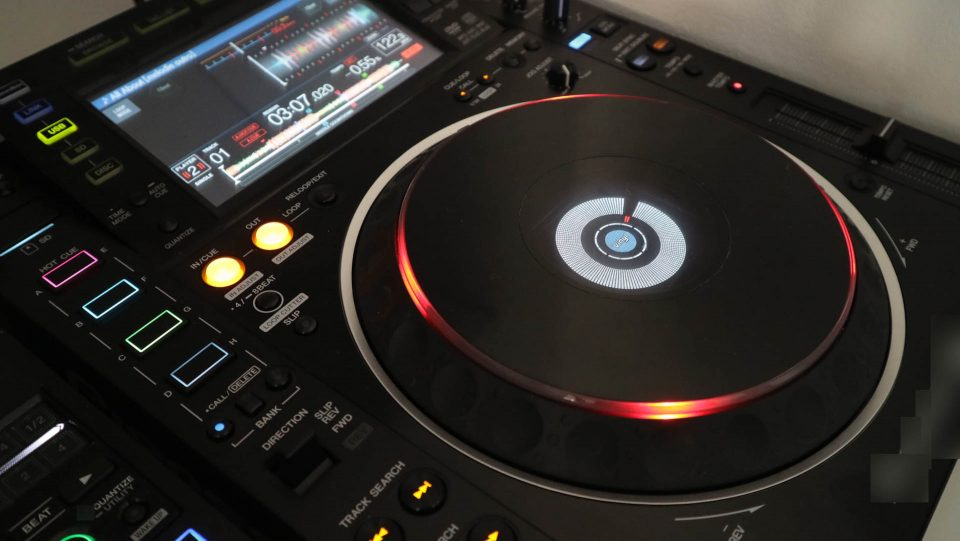 Red Jog wheel on CDJ 2000 nxs 2: on air display