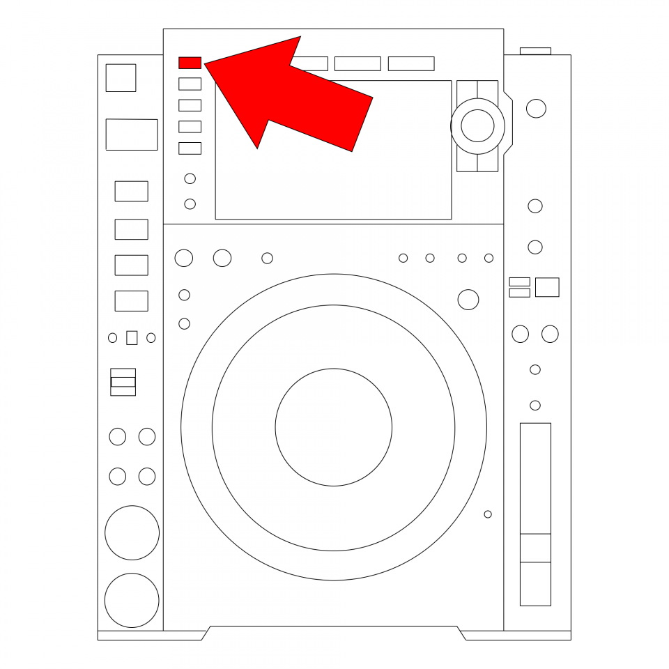 Rekordbox button on CDJ 2000 NXS 2